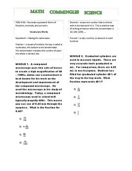 Math Commingles Science