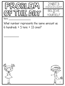 Math Common Core Assessments Second Grade