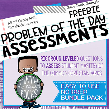 Math Common Core Assessments Second Grade - FREEBIE