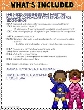SECOND GRADE Math Formative Assessments - Fourth Quarter