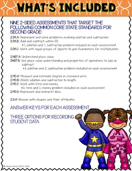 SECOND GRADE Math Formative Assessments - Fourth Quarter
