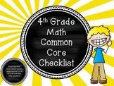 Math Common Core Checklist: Grade 4