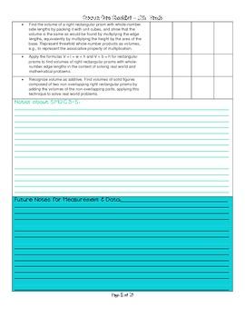 Math Common Core Checklist: Grade 5