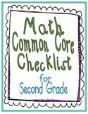 Math Common Core Checklist for Second Grade