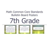 Math Common Core Content Standards, Bulletin Board Posters, 7th Grade