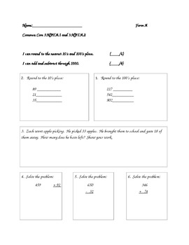 Math Common Core Daily Review Grade 3 (Day 1)