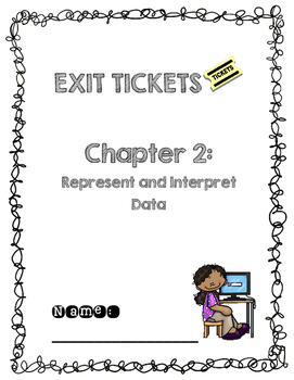 Third Grade Common Core Math Exit Tickets: Go Math! Chapter 2