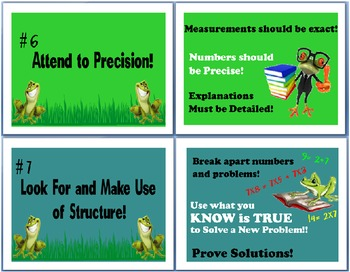 Math Common Core FROG Posters
