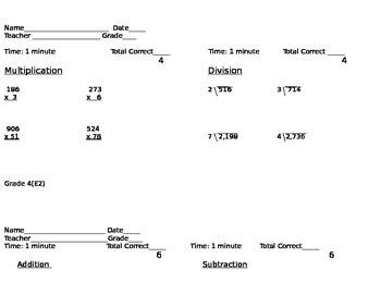Math Common Core Fluency