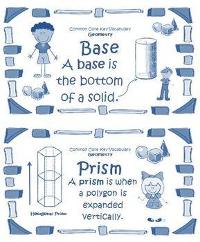 Math Geometry Vocabulary Cards