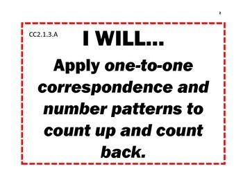 Math Common Core I WILL Statements