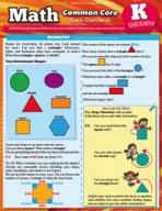 Math Common Core Kindergarten - QuickStudy Guide