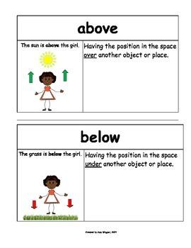 Math Common Core Kindergarten Vocabulary