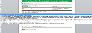 Common Core Lesson Plan Math Templates by Domain w/Strds in Drop Downs Gr. 7