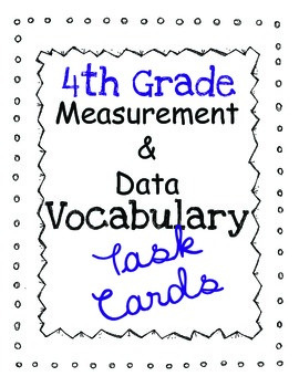 Math Common Core Task Cards: Measurement and Data