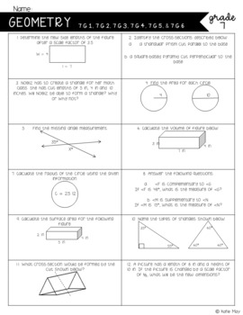 Math Common Core Mini-Assessments-7th Grade ***Alternate Use: Test Prep Stations