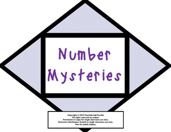Math Common Core Number Mystery Task Cards