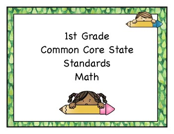 Math Common Core Posters *1st Grade*