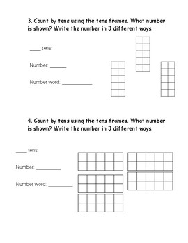Math Common Core Review Packet (First Grade)