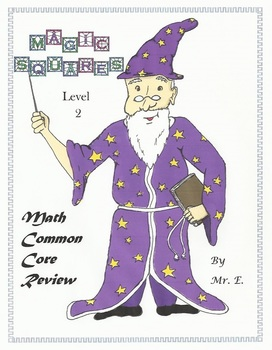 Math Common Core Review with Magic Squares Level 2