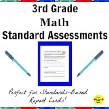 Math Common Core Standard Assessments for Third Grade