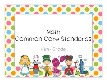Math Common Core Standards First Grade Alice in Wonderland Theme
