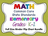 Math Common Core Standards: Grades K-2 Full Size Flip Chart Bundle Pack