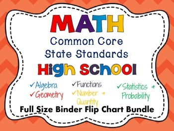 Math Common Core Standards: High School Full Size Flip Chart Bundle Pack
