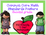 Common Core Math (Full Page) Standards Posters for Second Grade