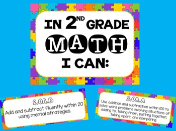 Math Common Core Standards Posters for second Grade (2nd)