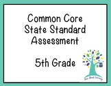 Math Common Core State Standards 5th grade Assessment