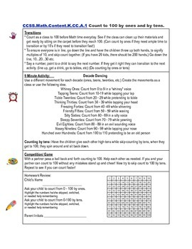 Math Common Core State Standards Kindergarten Quickies Counting and Cardinality