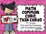 Math Common Core Task Cards 5th Grade CCSS 5.G.1 and 5.G.2 Coordinate Grids