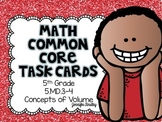 Math Common Core Task Cards 5th Grade 5.MD.3 & 5.MD.4 Concepts of Volume