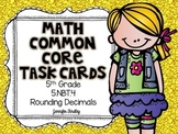 Math Common Core Task Cards 5th Grade 5.NBT.4 {Rounding Decimals}