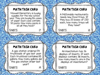 Math Common Core Task Cards 5th Grade CCSS 5.NBT.5