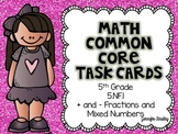Math Common Core Task Cards 5th Grade 5.NF.1 (Add and Subt