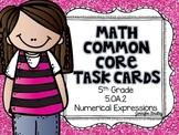 Math Common Core Task Cards 5th Grade CCSS 5.OA.2