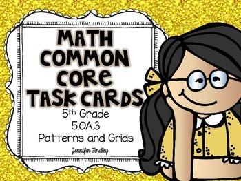 Math Common Core Task Cards 5th Grade CCSS 5.OA.3