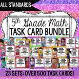 5th Grade Math Task Cards Complete Set {Common Core Aligned}