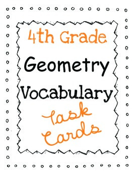 Math Common Core Task Cards: Geometry