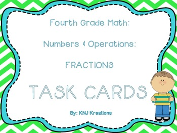 Math Common Core Task Cards Numbers and Operations: Fracti