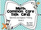 Math Common Core Task Cards Operations and Algebraic Thinking Grade 3