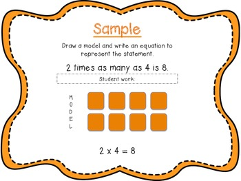 Math Common Core Task Cards Operations and Algebraic Thinking Grade 4