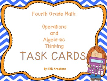 Math Common Core Task Cards Operations and Algebraic Think