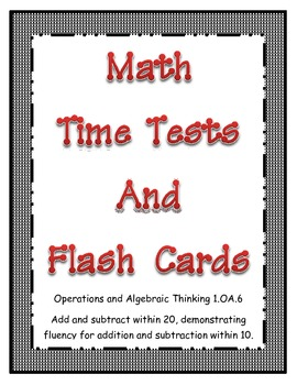 Math Common Core Time Test & Flashcards