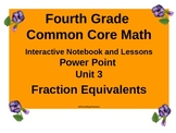 Gr 4 Math Common Core Unit 3 Fraction Equivalents  Noteboo