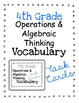 Math Common Core Vocabulary BUNDLE 4th Grade