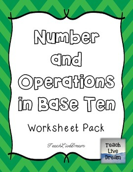Math Common Core Worksheet PACK (4.NBT)