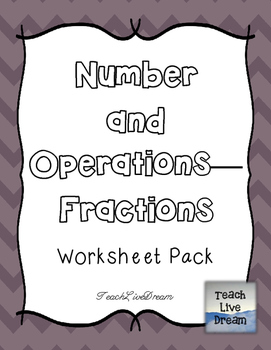 Math Common Core Worksheet PACK (4.NF)